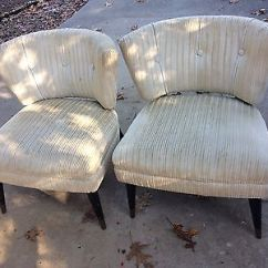 Modern Slipper Chair Pottery Barn Kids Cover Vintage Kroehler Mid Century Chairs 299 99 Picclick