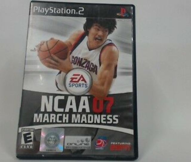 Ncaa March Madness  Ps2 W Original Box Stickers On Game