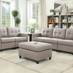 White Bonded Leather Sectional Sofa Set With Light Vintage Style Beds Small Space Couch W Matching Contemporary Microsuede Reversible Chaise Gray