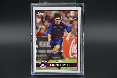 25x Lionel Messi RC 2004 Lost Rookie Topps Champions Leugue UEFA 2020 Barcelona