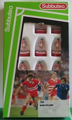 Rare Subbuteo Mp Lw Team Ref 754 Poland & Bari, In Original Labelled Box