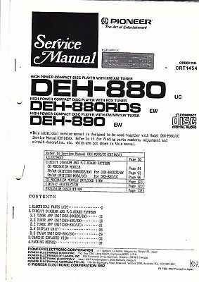 PIONEER KEH-M7400RDS/5400RDS/5401RDS SERVICE-MANUAL