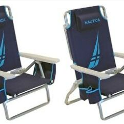 Nautica Beach Chairs Dinning Room Table And 2 Blue With Cooler Cup Holder Shoulder Strap