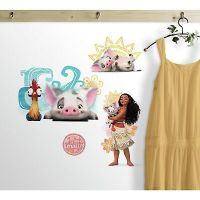 DISNEY MOANA AND FRIENDS WALL DECALS Pua Hei Hei Rooster ...