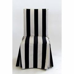 Dining Chair Covers Velvet Beach Chairs That Lay Flat Classic Slipcovers Slipcover Set Of 2 45 94 Cabana Stripe Long