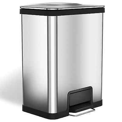 13 gallon kitchen trash can martha stewart towels halo airstep silent and gentle lid close