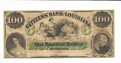 C Note Louisiane Neuf Orleans Citizens Bank 18XX not issued Plate C 3 Servers