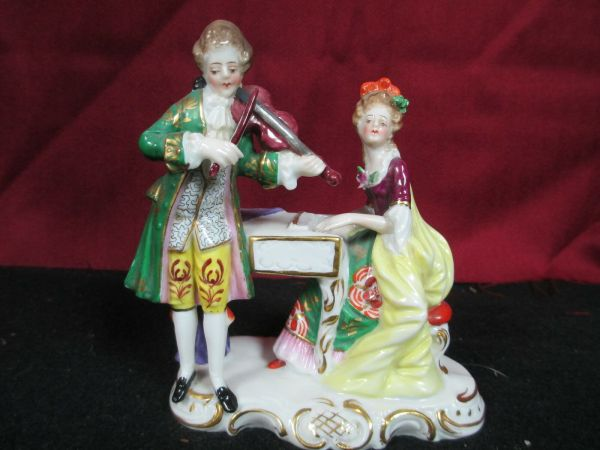 Antique Sitzendorf Porcelain Figurine -victorian Couple