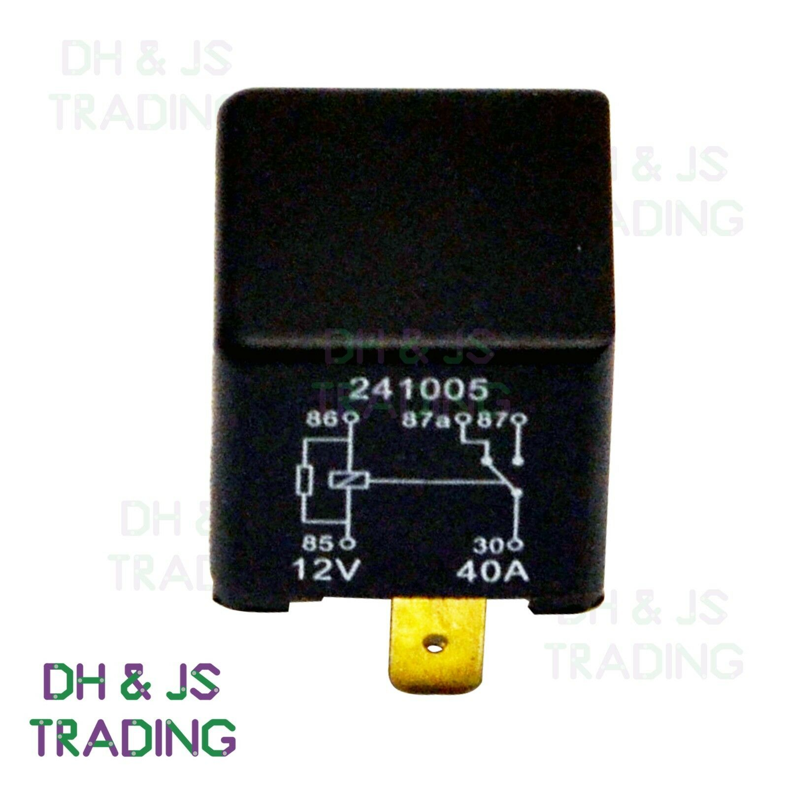 12v changeover relay wiring diagram 12 volt solar system 5 pin automotive 40amp 40a ry24