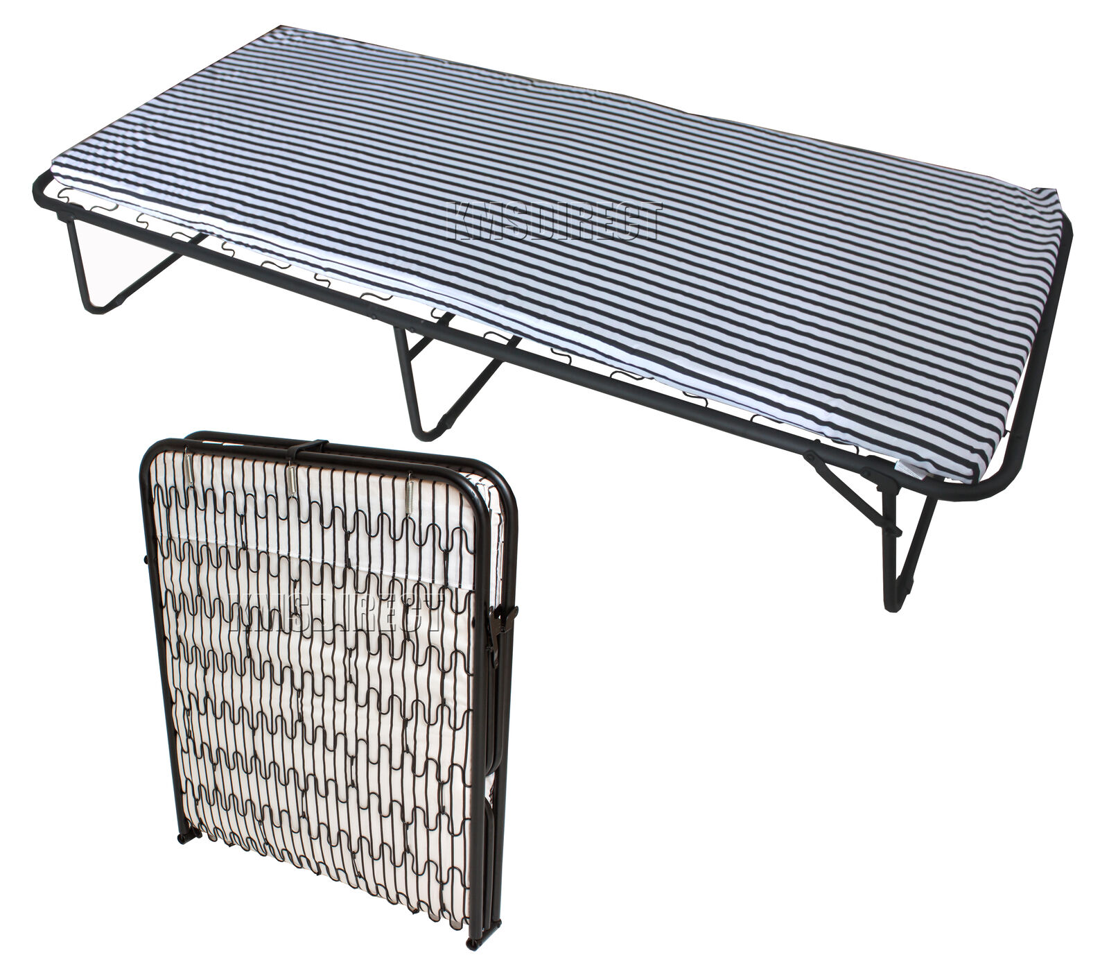 folding chair beds canada fred meyer chairs foxhunter metal single guest visitor compact bed