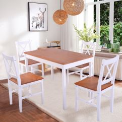 Pine Kitchen Chairs Ireland Antique Metal Solid Wooden Dining Table And 4 Set