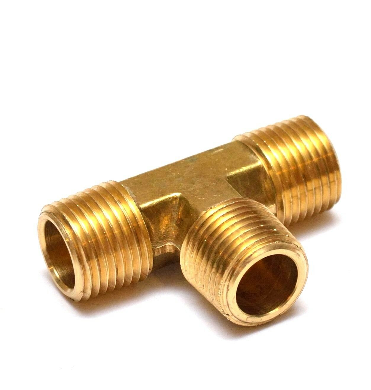 1/2& NPT MALE Tee Brass Pipe Fitting Fuel, Air, Water, Oil