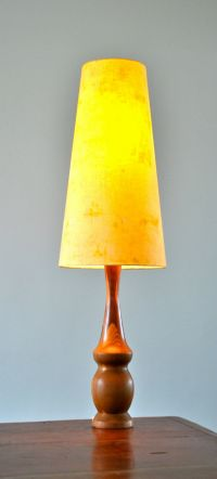 RETRO MID CENTURY teak DANISH 'PROP' table LAMP with new