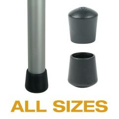 Caps For Chair Legs Patterned Fabric Club Chairs Flexible Plastic Black Ferrules Tables And
