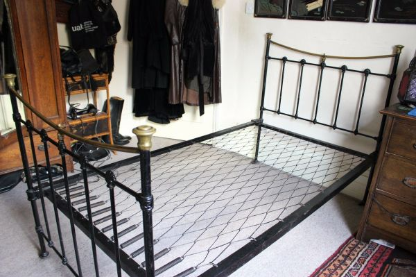 Antique Victorian Cast Iron Bed Frame