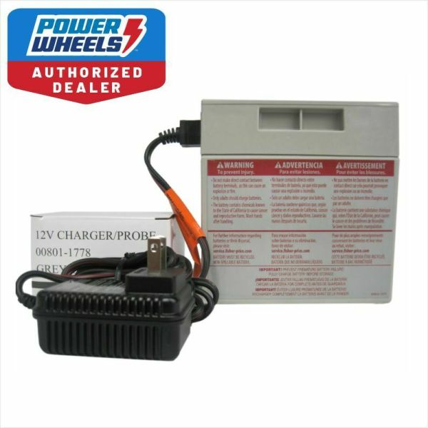 Power Wheels 12v Gray Battery 00801-0638 12 Volt Charger Fisher - 105.49 Picclick Ca