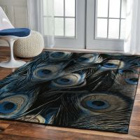 Luxury 8x11 Contemporary Rug For Living Room Black Rug ...