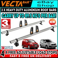 2 x Van Guard ULTI Bars Roof Rack =2008+ Citroen Berlingo ...