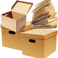 ARCHIVE FILING A4 STORAGE CARDBOARD MOVING FILE BOXES