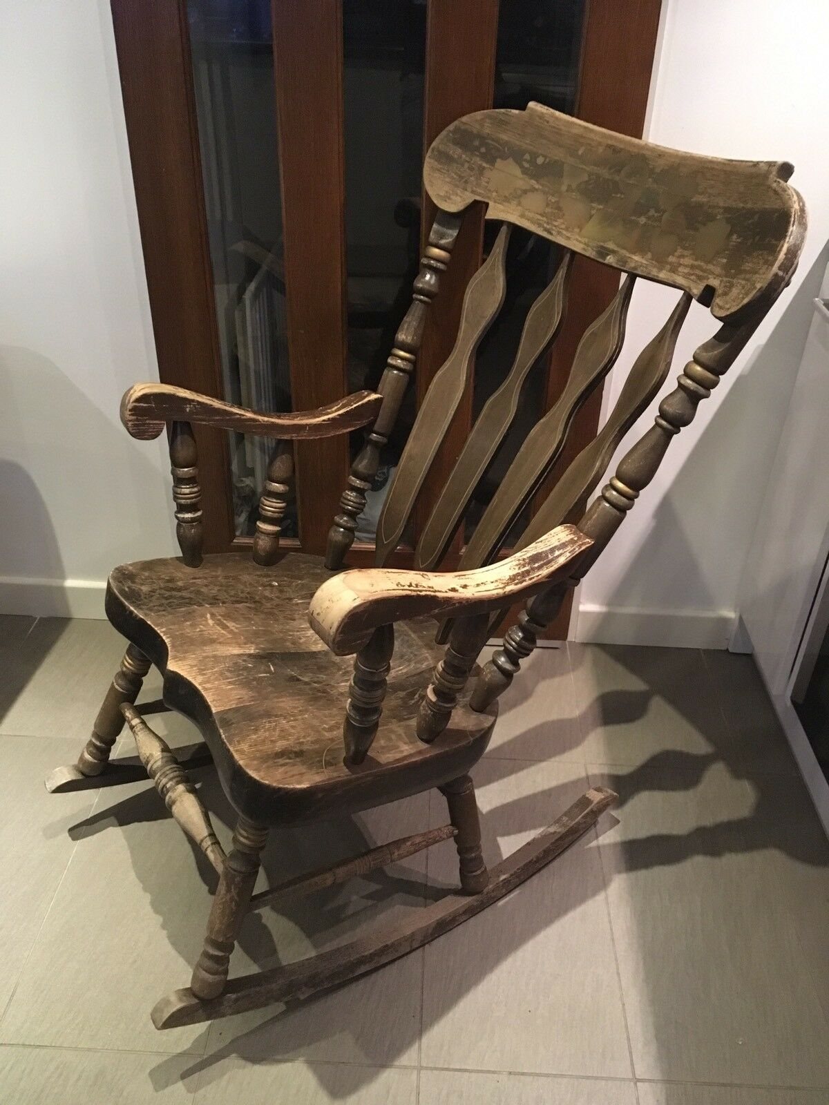 antique rocking chair price guide hans wegner the solid wooden 14 50 picclick uk