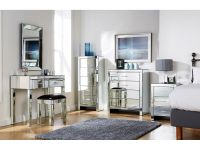 MIRRORED FURNITURE BEDROOM Collection - Glass Chest ...