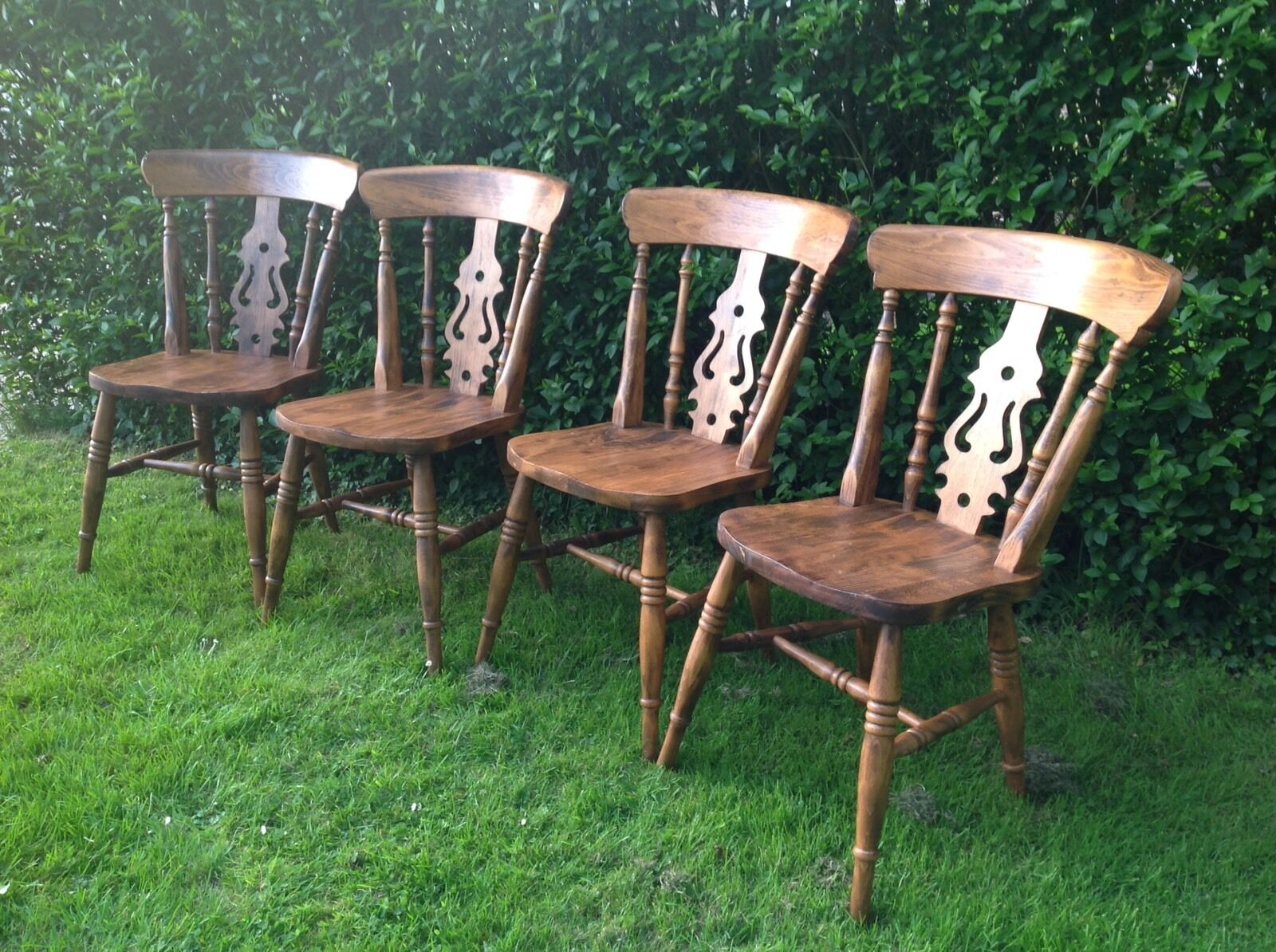 pine kitchen chairs ireland lawn home depot set of 4 vintage dining 55 00
