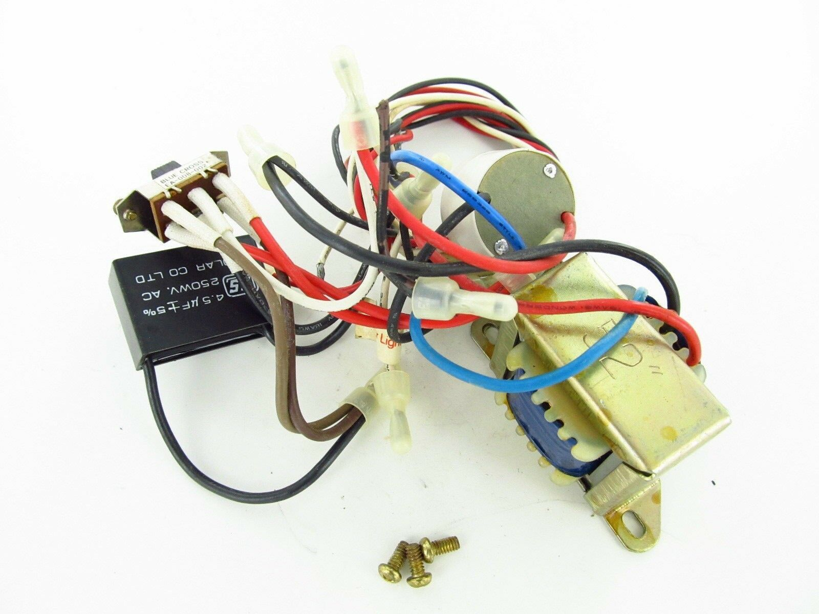hight resolution of  5 used nutone ceiling fan wiring harness with switchs capacitor parts 1