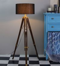 VINTAGE Modern Retro Wooden Timber Tripod Floor Lamp ...