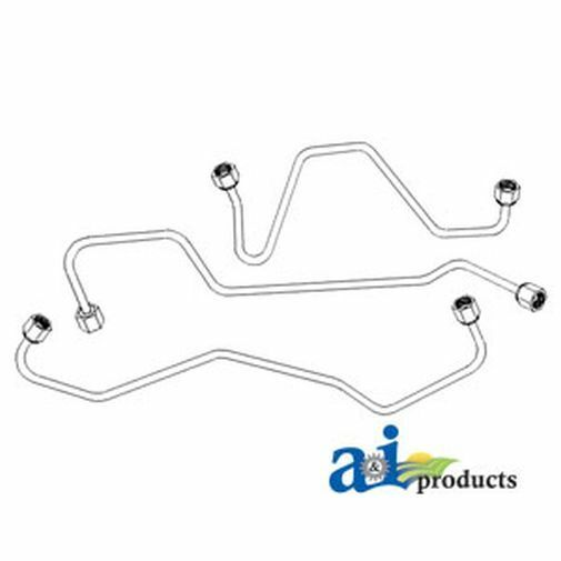 NEW FORD NEW Holland Tractor Injection Line Set 340A 445