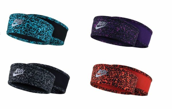 Nike Lotus Running Fitness Dri-fit Fleece Headband Leopard