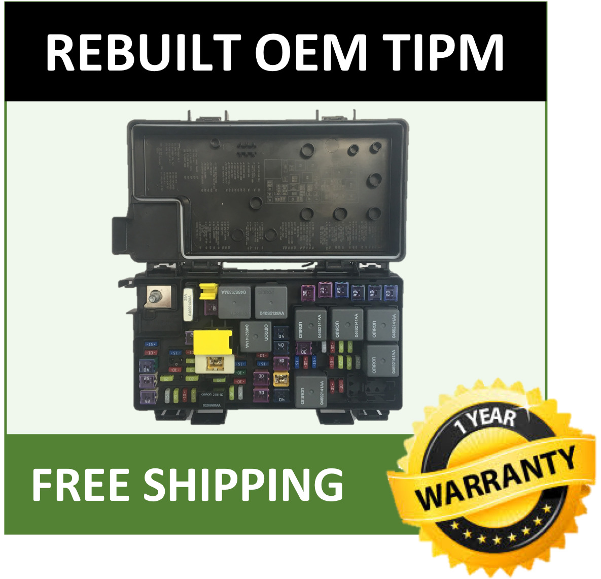 hight resolution of 2011 dodge grand caravan town country routan tipm fuse box 04692335ah 1