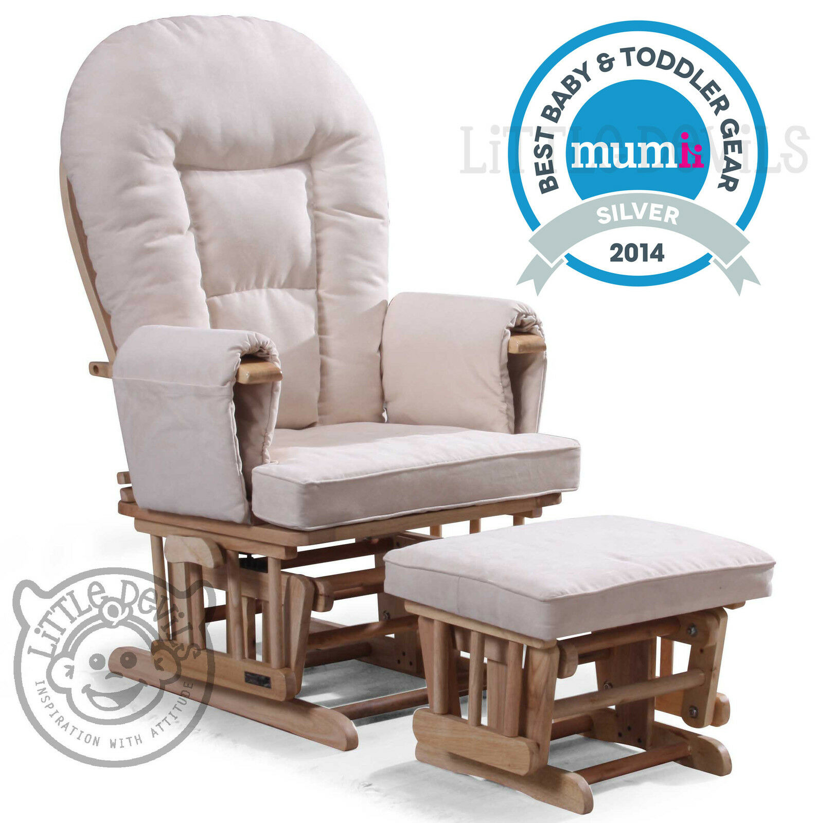 maternity rocking chair white wooden chairs for weddings cream supremo bambino nursing glider recliner