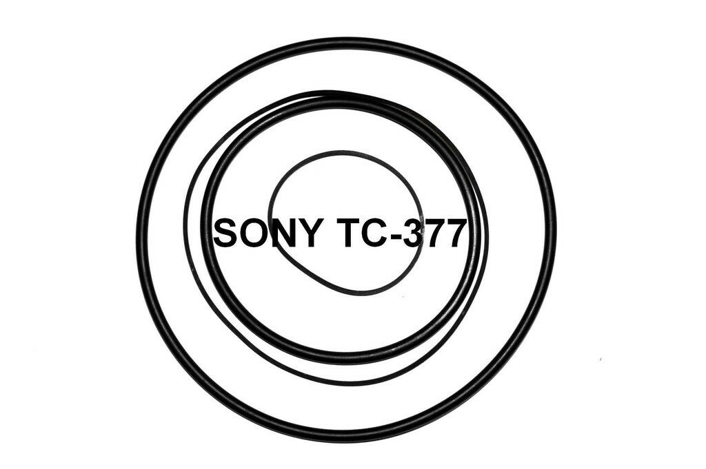 SET BELTS SONY Tc377 Reel To Reel Extra Strong New Factory