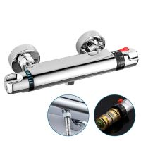THERMOSTATIC SHOWER MIXER Valve Bar Exposed Tap Chrome