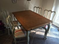 Shabby Chic Louis XV style Dining Room Table And Chairs ...