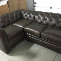 Leather Sofa Like Pottery Barn Seagrass Chesterfield Tufted Pleated