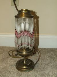 ANTIQUE BRASS Jeannie Oil Lamp Style Electric Table Lamp