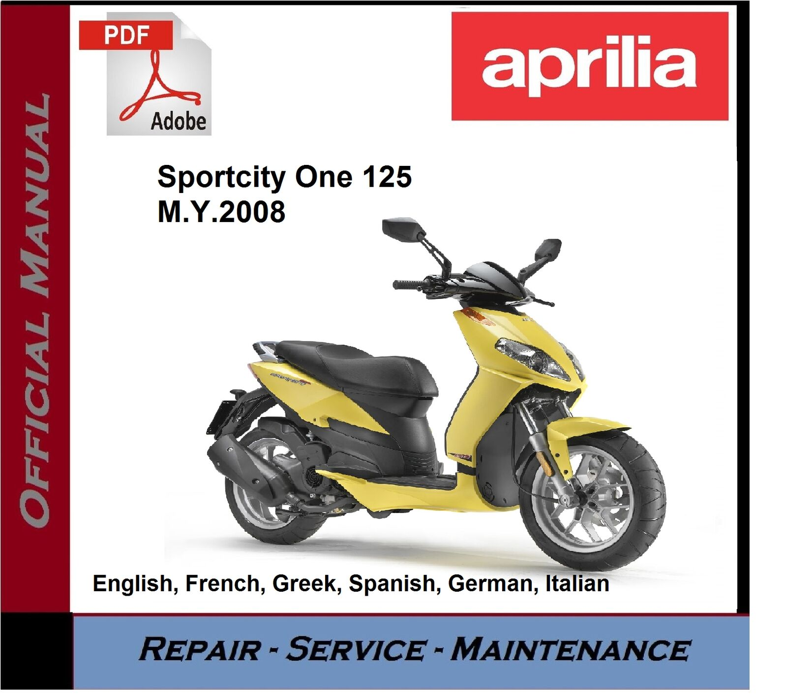 hight resolution of aprilia sportcity one 125 2008 onwards workshop service repair manual 1 of 1free shipping
