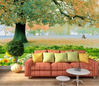 3D SUNFLOWER TREE Wall Paper wall Print Decal Wall Deco ...