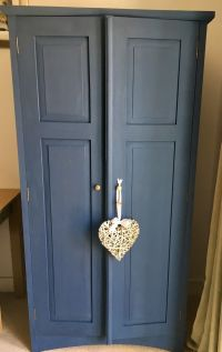 Shabby Chic Double Wardrobe Painted Solid Oak Vintage   ...