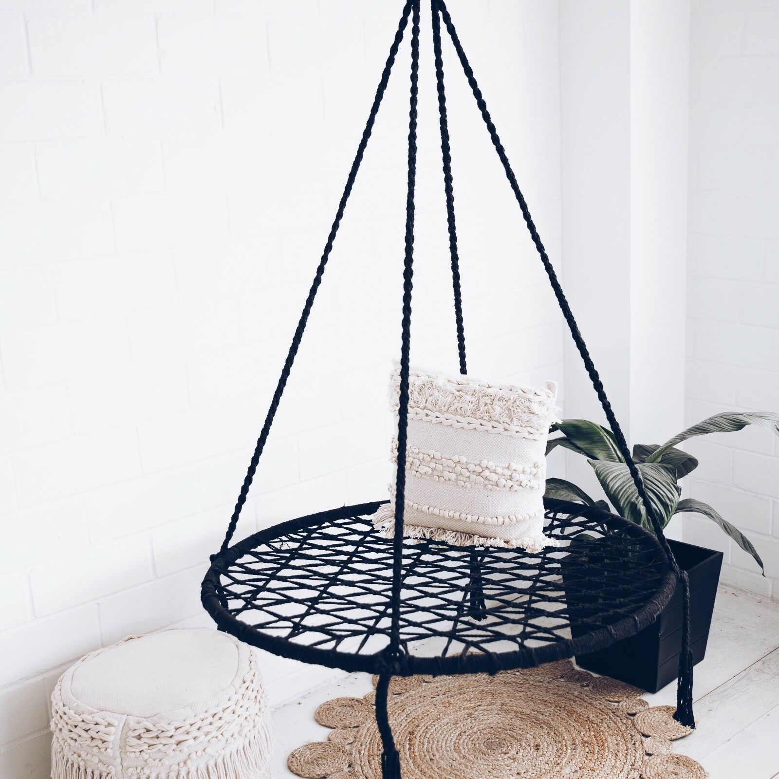 hanging chair luxury rustic dining table and chairs macrame nest swing hammock relax in comfort