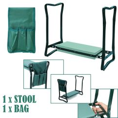 Chair With Kneeler How To Make A Wooden Rocking Portable Folding Garden Foam Seat Knee Pad