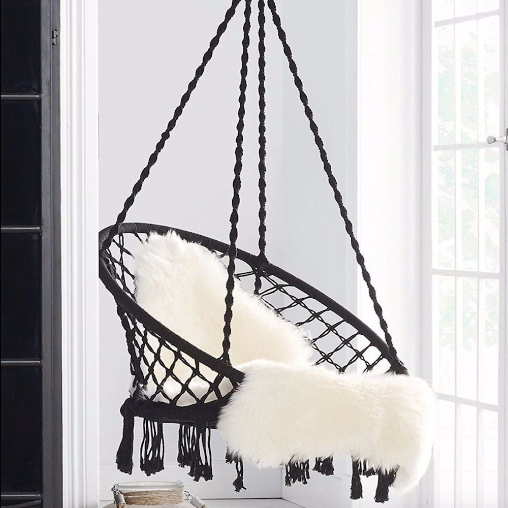 macrame hammock chair kids activity table and chairs swing relax in luxury comfort