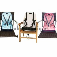 Portable High Chair Booster Office Adjustable Arms Baby Dinning Seat Travel Light