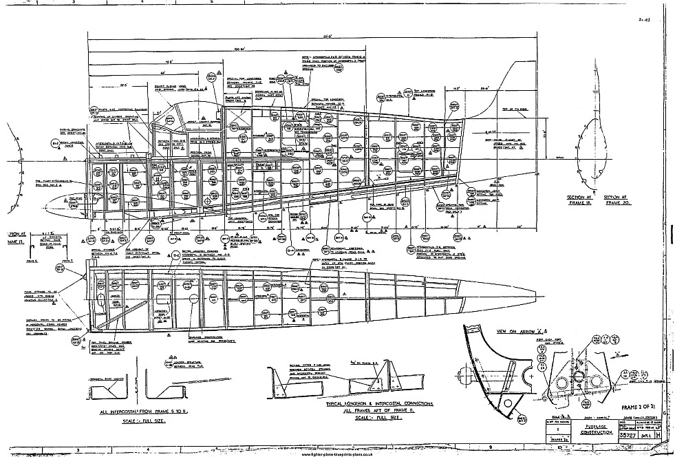 SUPERMARINE SPITFIRE PLANS FULL SET DRAWINGS 1940's ISSUE