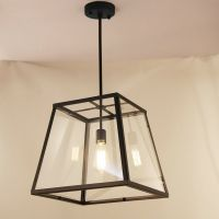 Black Chandelier lighting Glass Pendant Light Bar LED Lamp ...