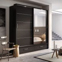 Brand New Modern Bedroom Mirror Sliding Door Wardrobe ARTI
