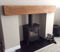 OAK BEAM FIREPLACE / Mantle - Floating Shelf Mantlepiece ...