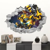 TRANSFORMERS 3D BUMBLEBEE Break Wall Decal Removable ...