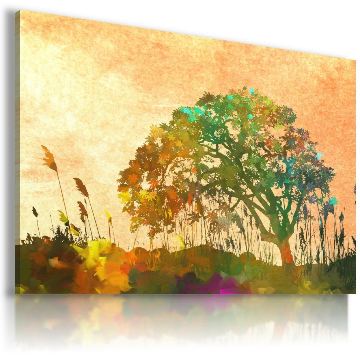 Tree Of Life Canvas Wall Art Uk - painting tree of life abstract ...